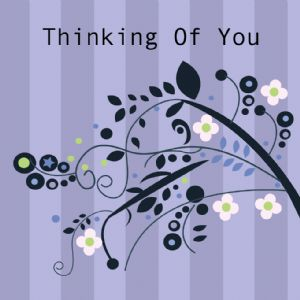 Thinking of You Card - Stripes
